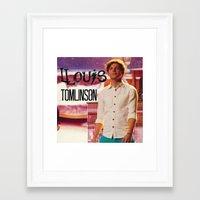 louis tomlinson Framed Art Prints featuring Louis Tomlinson by Marianna
