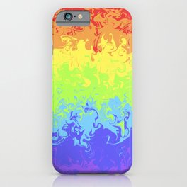 Marble Pride Rainbow iPhone Case