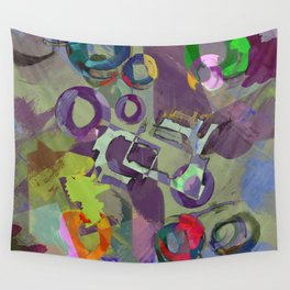 Living In A Purple Dream - Abstract, eclectic, random, purple. lilac, pastel artwork Wall Tapestry