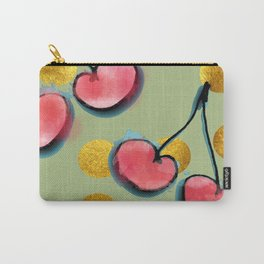 Cherry with gold dots Carry-All Pouch