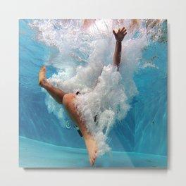 Pool - Blue Water - Beach - Ocean - Waves - Splash Metal Print