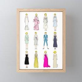 Blonde Bombshell Framed Mini Art Print