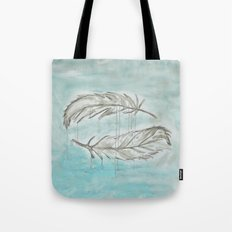 Feathers and memories Tote Bag