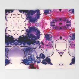 Wine & Flowers Photographic Pattern #2 Throw Blanket