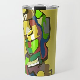 Woman with scarf Travel Mug
