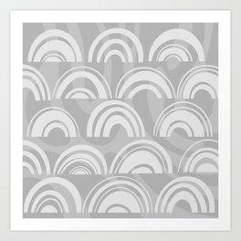 Grey Rainbow Art Print