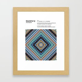 Boundaries (Natural) Framed Art Print