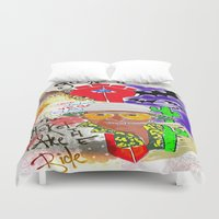 fear and loathing Duvet Covers featuring GONZO Fear and Loathing Print by Just Bailey Designs .com