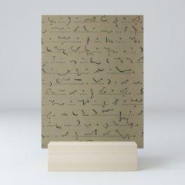 Shorthand Script Mini Art Print