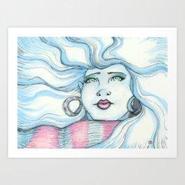 Winter Gaze Art Print