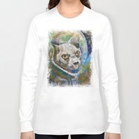 space cat Long Sleeve T-shirts featuring Space Cat by Michael Creese