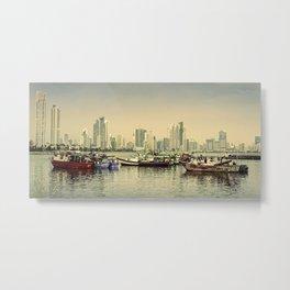 Panama City Bay-In Golden Light Metal Print