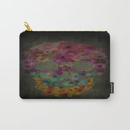 Flower Sugar Skull Carry-All Pouch