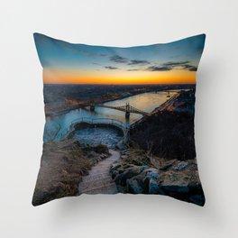 Budapest sunrise Throw Pillow