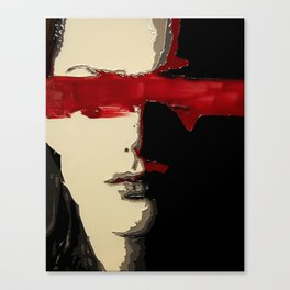 Thinking Red Canvas Print