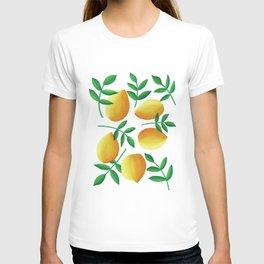 Lemons on Teal T-shirt