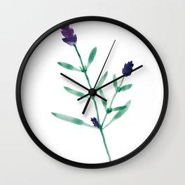 Flower Series - Lavender Wall Clock