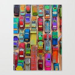 Toy Traffic Jam Canvas Print