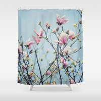 magnolia Shower Curtains featuring Magnolia by Jenny Ardell