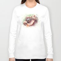 sloth Long Sleeve T-shirts featuring Sloth by Olechka