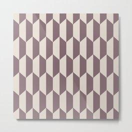 Classic Trapezoid Pattern 244 Beige Metal Print