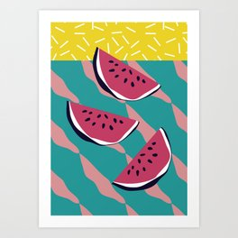 Cool Watermelon Art Print