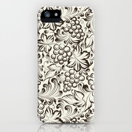 Vine seamless background iPhone Case