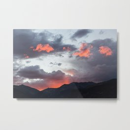 October Sunset in Rocky Mountain National Park - 10/2/2016 Metal Print