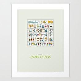 Link Model Kit Art Print