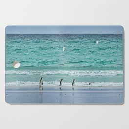Falkland Island Seascape with Penguins Cutting Board