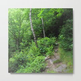 Watercolor Landscape, Cape Breton 27, Nova Scotia, Canada Metal Print