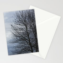 Birds Settling Into a Tree Late on a Winter's Afternoon Stationery Cards