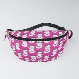 Ruth Bader Ginsburg Pattern Hot Pink Fanny Pack