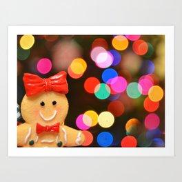 Gingerbread Bokeh Art Print