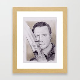 David Morrissey as The Governor From The Walking Dead Framed Art Print