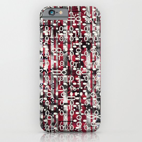 Linear Thinking Trip-Switch (P/D3 Glitch Collage Studies) iPhone & iPod Case