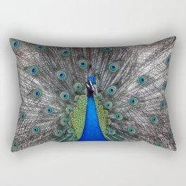 peacock bird animals pen plumage Rectangular Pillow