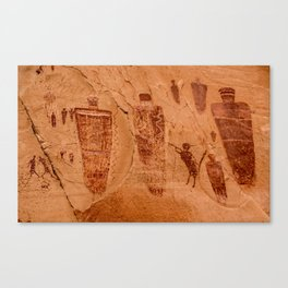 Horseshoe Canyon Great Gallery Group 2 Pictographs Canvas Print