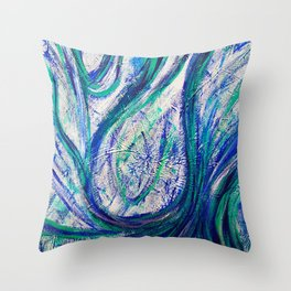 Drops Of Blue Throw Pillow