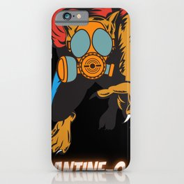 Quarantine-O-Ween Werewolf Lupine Lovers Funny Halloween Costume Funny Lycan Halloween Gift Wolf iPhone Case
