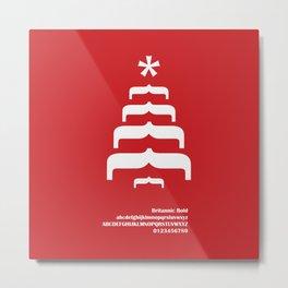 CHRISTMAS TREE - FontLove - CHRISTMAS EDITION Metal Print