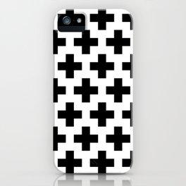 Swiss Cross B&W iPhone Case