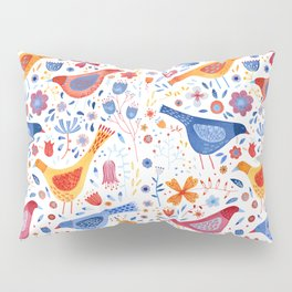 Birds in a Garden Pillow Sham