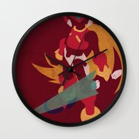 megaman Wall Clocks featuring Megaman Zero by JHTY
