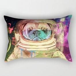 Astronaut Pug COLOR Rectangular Pillow