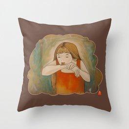Hmmm... Throw Pillow