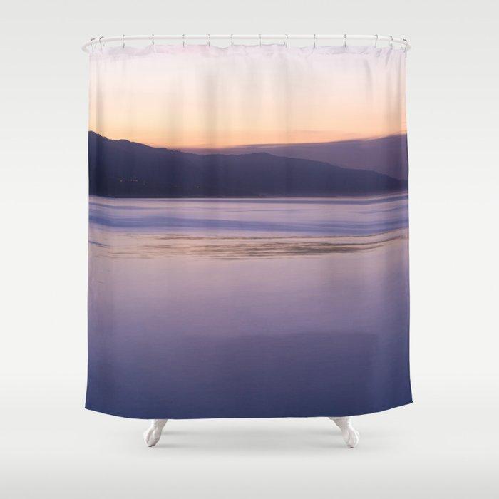 Malibu Sunrise Colors PD002 Shower Curtain