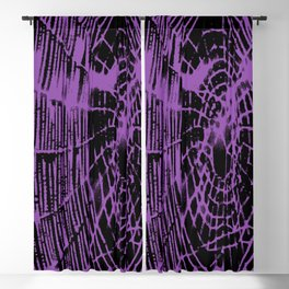 Intricate Halloween Spider Web Purple Palette Blackout Curtain