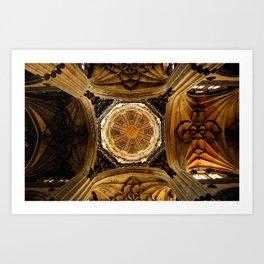 Salamanca's Cathedral Dome Art Print