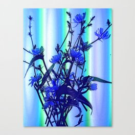 Blue Wildflowers With Backlight Canvas Print